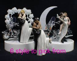 harley davidson wedding cake toppers motorcycle etsy