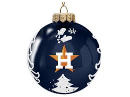 houston astros memory company 3 glass tree ornament