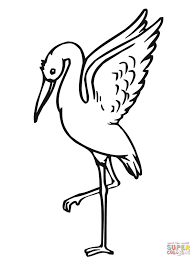 stork coloring pages free coloring pages