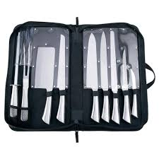 professional kitchen knives set amazon com slitzer 10pc professional stainless steel cutlery set