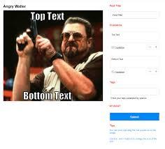 Angry Walter Meme Generator - addons meme maker best 9gag clone script v29 2