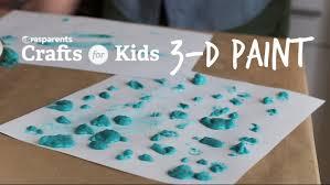 diy 3 d paint crafts for kids pbs parents youtube