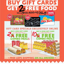 gift card specials news taco cyber monday gift card bonus brand