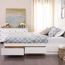 White Platform Bed Frame Size White Beds For Less Overstock