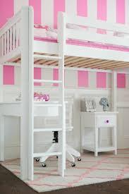 bureau superposé lit joli lit superposé en blanc lit avec bureau pour fille papier