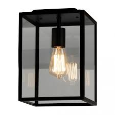 Exterior Ceiling Light Homefield 7956 Exterior Ceiling Light Black Clear Glass The