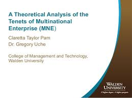 Universities As Multinational Enterprises The Multinational A Theoretical Analysis Of The Tenets Of Multinational Enterprise Mne