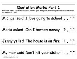 quotation mark activities and worksheets by stefanie bruski tpt