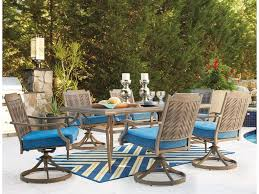 Turquoise Patio Furniture by Ashley Signature Design Partanna Outdoor Dining Table Set With