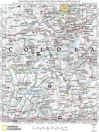 Colorado Fourteeners Map by Placer Precious Stones Gemstone Mining Claim Mount Antero