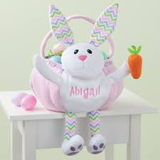 personalized bunny easter basket personalized pink bunny easter basket personalized planet