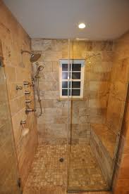 Shower And Bath Stand Up Shower With Sprays And Bench Seat Dream House