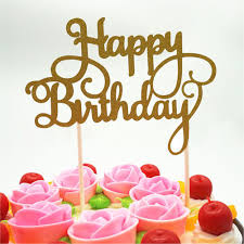 online shop happy birthday cake topper cupcake stand for