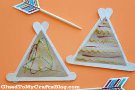 popsicle stick teepees kid craft
