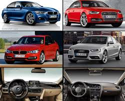 2009 audi a4 vs bmw 3 series visual comparison bmw f30 3 series and m sport vs audi a4 and s4