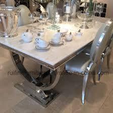 modern dining room set china modern dining room furniture set chrome velvet chairs