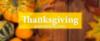 thanksgiving to god a responsive reading louisiana baptists