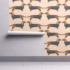 dachshund dog pet dog doxie sausage dog blush dog print