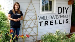 diy willow branch trellis full version garden answer youtube