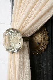 Umbra Curtain Holdbacks Such A Cozy Touch Vintage Door Knobs As Curtain Tie Backs I