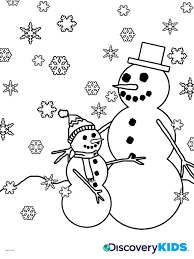 snowman coloring discovery kids