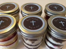 confirmation favors 6 8oz cupcakes in a jar jars baptism favors holy