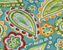 paisley fabric etsy