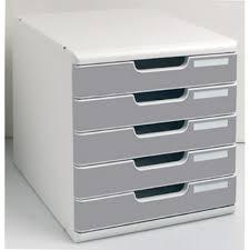 rangement documents bureau exacompta module de rangement 5 tiroirs modulo gris granit