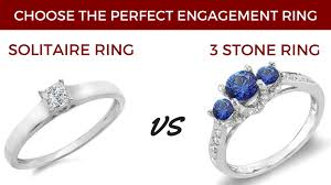 solitaire stone rings images Solitaire vs three stone choose the perfect engagement ring jpg