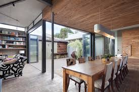 love the continuous floor from in to out the open space but each