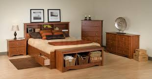 Wood King Platform Bed With Drawers King Platform Bed With Drawers Decofurnish