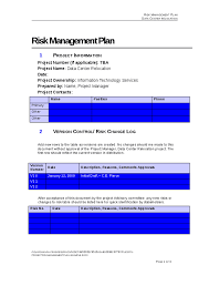 project risk management plan hashdoc
