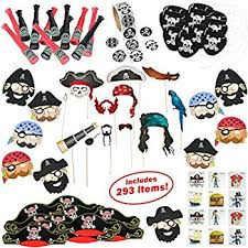pirate party supplies 120 pc pirate party favors set tattoos stickers flags