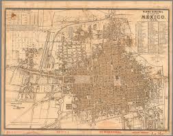 Map De Mexico by Plano General De La Ciudad De Mexico 1886 David Rumsey