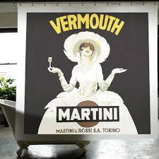 martini rossi logo cortina de baño izola martini cortina de baño estampada con