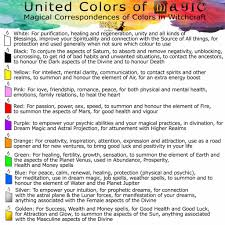 List Of Color Candle Magic Candle Colours Correspondences Magical Recipes Online