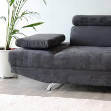 canap d angle gris anthracite canapé d angle à droite 3 places en microfibre coloris gris