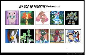 Favorite Pokemon Meme - top 10 favorite pokemon
