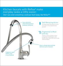 Touch Activated Kitchen Faucets Brushed Nickel Wall Mount Single Handle Pulldown Kitchen Faucet