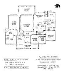 4 bedroom house plans 1 story 5 bedroom 3 1 2 bath floor plans
