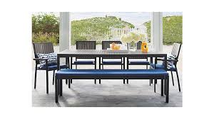 alfresco sunbrella dining bench cushion crate and barrel