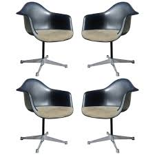 set four herman miller eames swivel chairs at 1stdibs