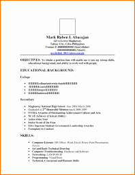 resume format for high graduate philippines map google 50 unique philippine resume format resume templates blueprint