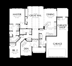 House Plans With Vaulted Great Room by Mascord House Plan 1149 The Hayword
