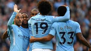 b premier league table manchester city score seven to destroy stoke city and top table in