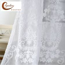 white curtains for bedroom byetee embroidered white screen screen white embroidered voile