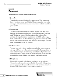 Fictional Resume Resume Writing Prompts And Categorizing Information 6th 8th