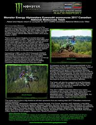 motocross news 2014 monster energy alpinestars kawasaki announces 2017 team direct