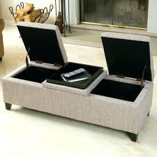 Ottoman Cloth Fabric Covered Storage Bench Awesome Fabric Covered Storage Bench
