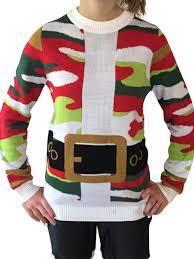 camo christmas santa suit christmas camo christmas sweater christmas
